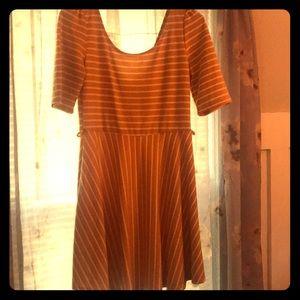 ModCloth Yellow White Strip Dress